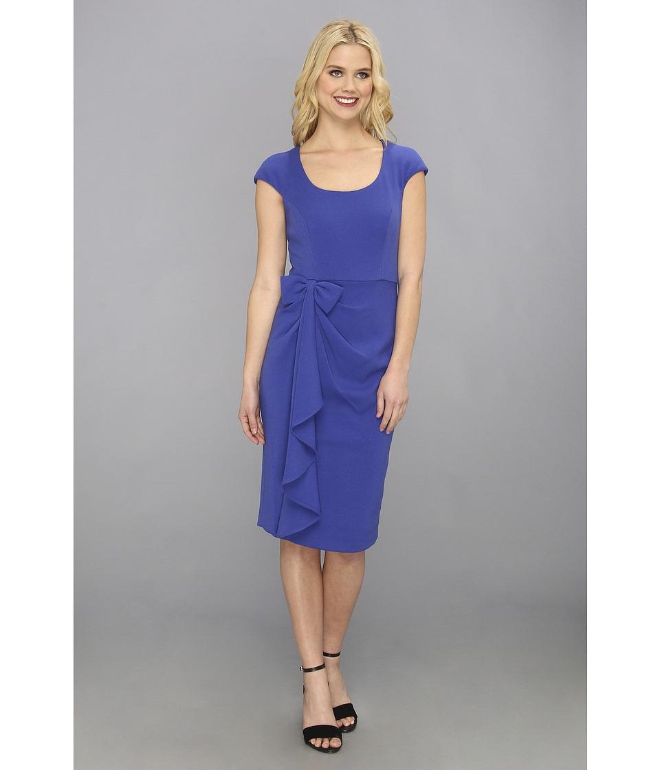 Badgley Mischka - Bow Cap Sleeve (Sapphire) Women
