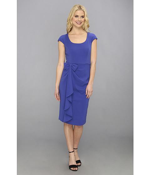 Badgley Mischka - Bow Cap Sleeve (Sapphire) Women's Dress