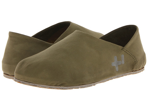 OTZ - 300GMS Wax Canvas (Moss) Slip on Shoes