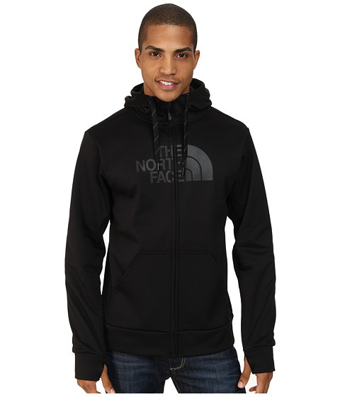 The North Face - Surgent Half Dome Full Zip Hoodie (TNF Black/TNF Black) Men