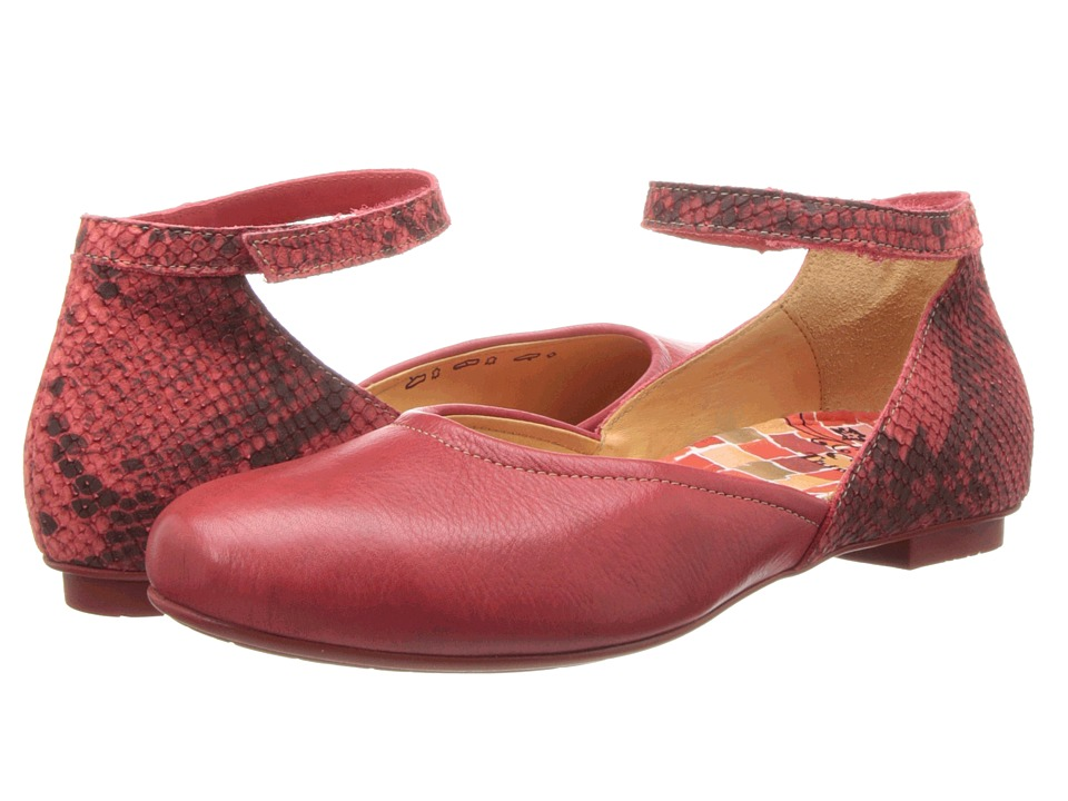 Think! - Balla Damen - 82169 (Cherry/Kombi) Women's Flat Shoes