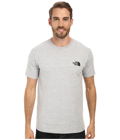 The North Face - S/S Red Box Tee (Heather Grey/TNF Black) Men