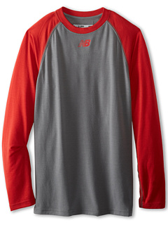 SALE! $13.2 - Save $11 on New Balance Team L S Raglan Tee (Big Kids) (Team Red) Apparel - 45.00% OFF $24.00