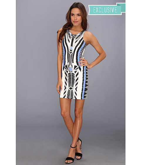 MINKPINK - Printed Dress with Silver Foil Details (Multi) Women