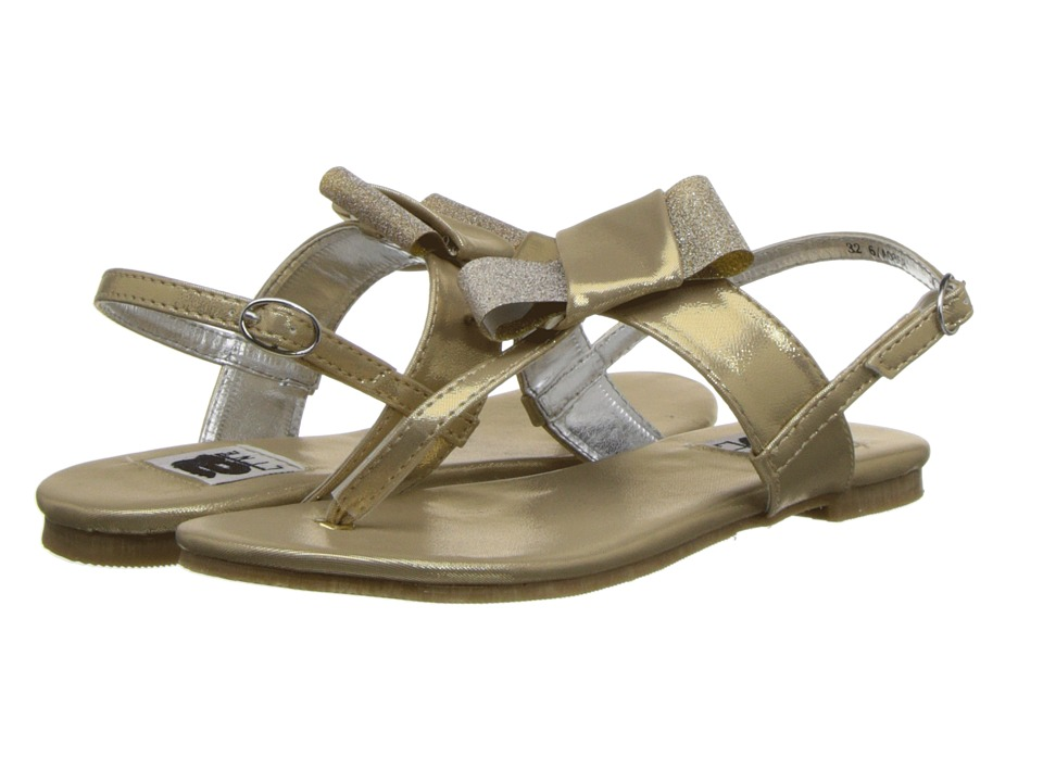 Amiana - 6-A0858 (Toddler/Little Kid/Big Kid/Adult) (Gold Metallic PU) Girl's Shoes