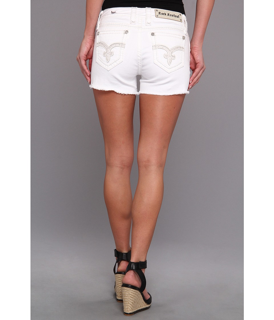 Rock Revival - Lina H7 Short (White) Women's Shorts