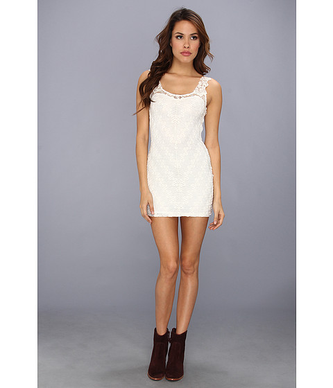 Free People - Lace Foiled Again Bodycon (Snow) Women