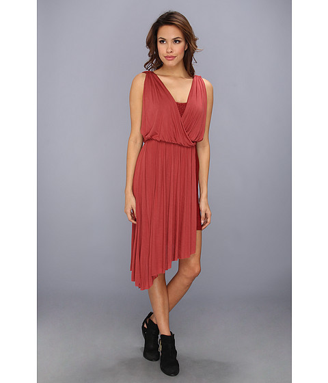 Free People - Elanore Mini Dress (Tuscan Red Combo) Women