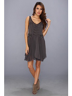 SALE! $91.99 - Save $76 on Free People Pop Champagne Dress (Shark) Apparel - 45.24% OFF $168.00