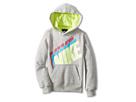 Nike Kids Fleece Pullover Hoodie (Little Kids) (Grey Heather)