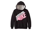 Nike Kids Fleece Pullover Hoodie (Little Kids) (Black)
