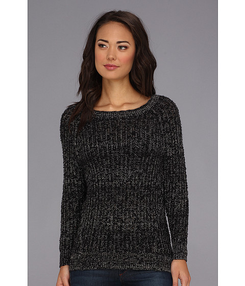 Free People - Star Dune Marled Pullover (Black Combo) Women's Sweater