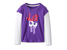 Nike Kids Just Do It 2-Fer Tee (Toddler) (Court Purple) Girl's Long Sleeve Pullover