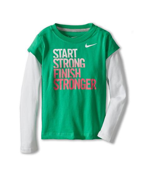 Nike Kids - Start Strong 2-Fer (Toddler) (Gamma Green) Girl
