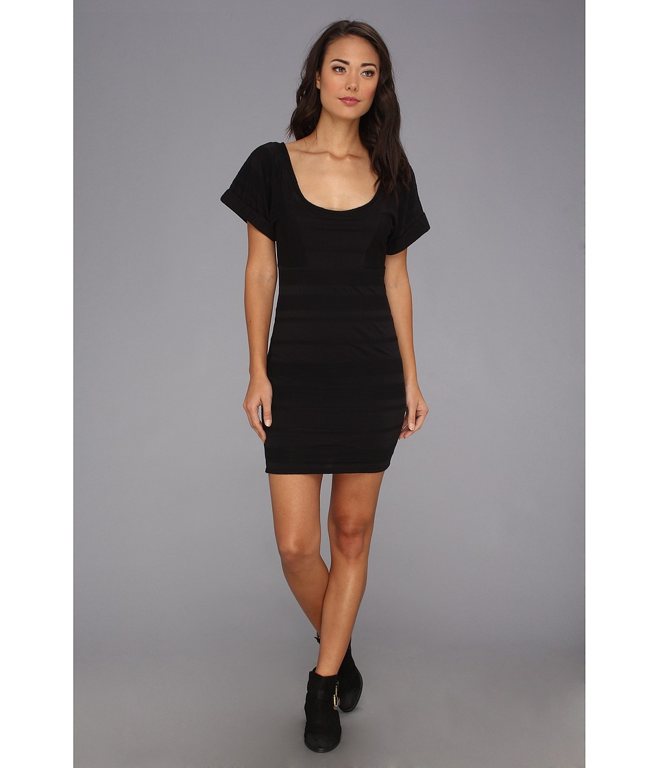 Free People - Lunch Date Mini Dress (Black Combo) Women's Dress