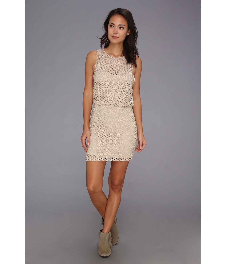 Free People - Surplice Back Mini Dress (Natural Combo) Women's Dress