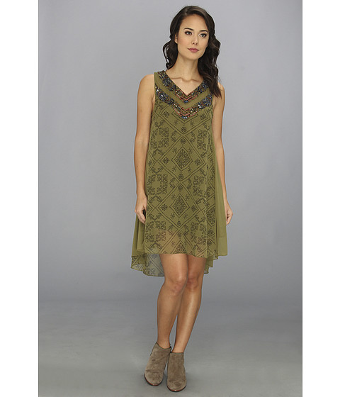Free People - Ancient Mystery Dress (Sage Combo) Women