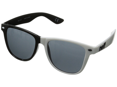 Neff - Daily Shades (Black/White Split) Sport Sunglasses