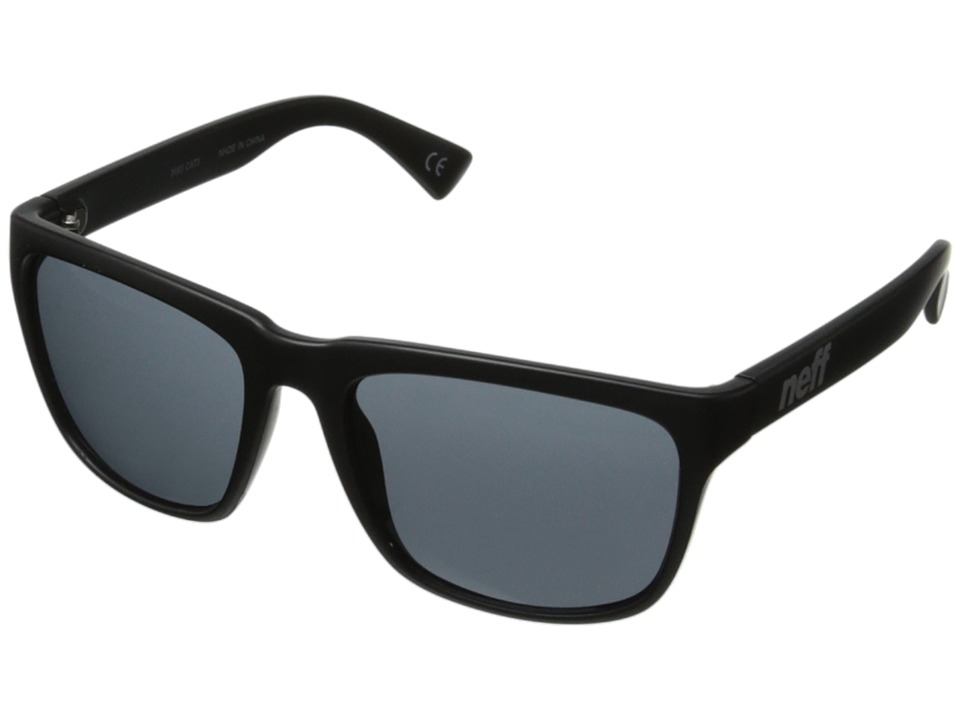 Neff - Chip (Matte Black) Plastic Frame Fashion Sunglasses