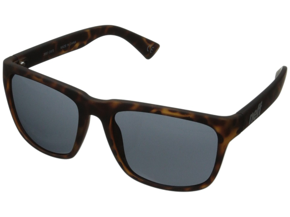 Neff - Chip (Tortoise Rubber) Plastic Frame Fashion Sunglasses