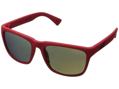 Neff - Chip (Red Rubber) Plastic Frame Fashion Sunglasses