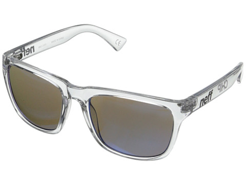 Neff - Chip (Clear) Plastic Frame Fashion Sunglasses