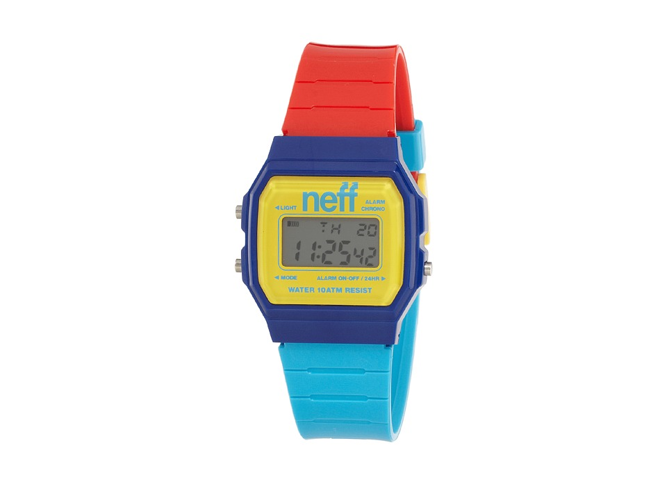 Neff - Flava XL (Blue/Yellow/Red) Watches