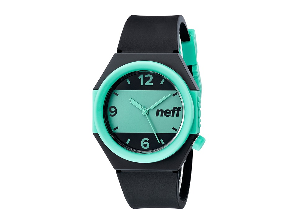 Neff - Stripe Watch (Black/Teal) Watches