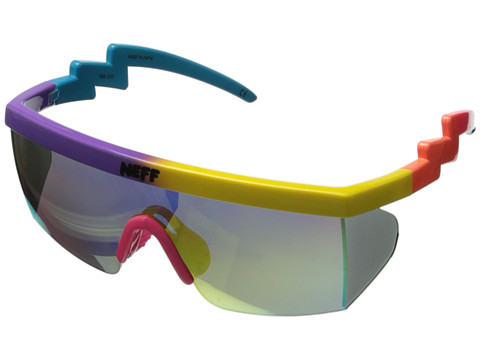 Neff - Brodie (Purple/Yellow/Blue) Sport Sunglasses