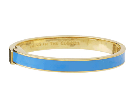 Kate Spade New York - Head in the Clouds Hinged Idiom Bangle (Azure Blue) Bracelet