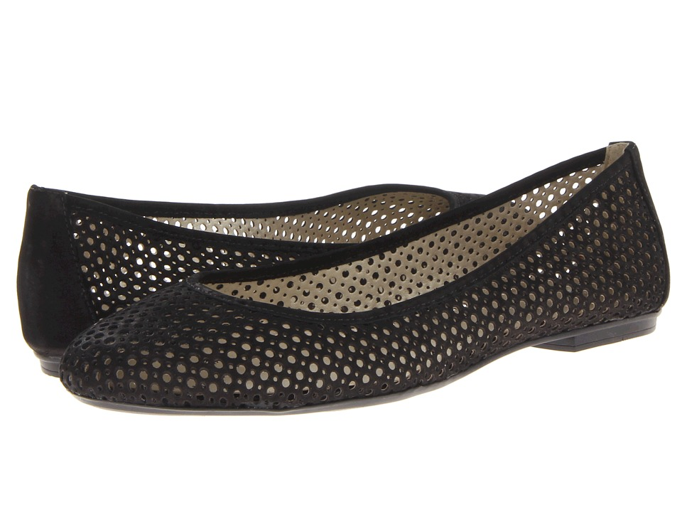 French Sole - League (Black Nubuck) Women's Flat Shoes