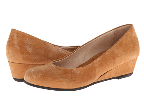 French Sole - Gumdrop (Cognac Cartizze) Women's Wedge Shoes