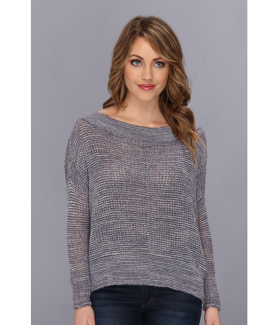 Free People - These Days Fine Gauge Pullover (Denim Combo) Women's Sweater