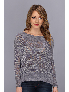 SALE! $44.99 - Save $53 on Free People These Days Fine Gauge Pullover (Denim Combo) Apparel - 54.09% OFF $98.00