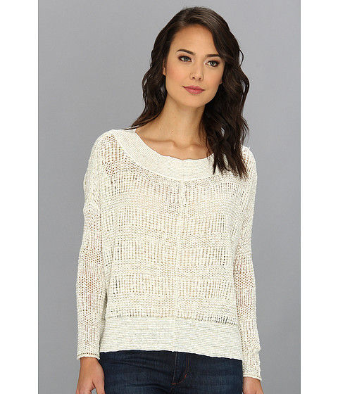 Free People - These Days Fine Gauge Pullover (Ivory Combo) Women