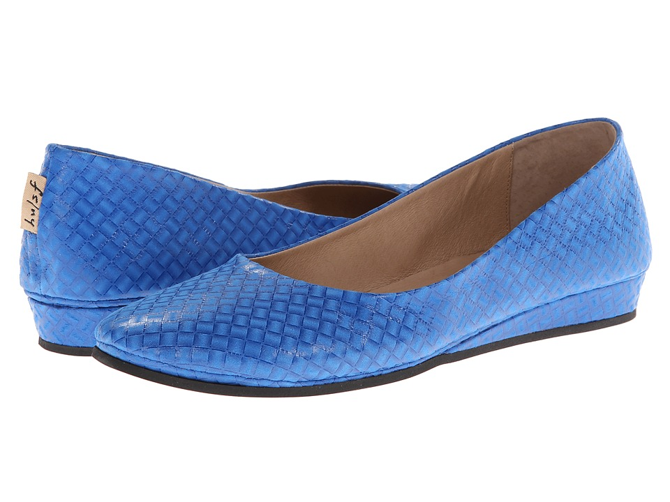 French Sole - Zeppa (Electric Blue Blocks) Women's Slip on Shoes