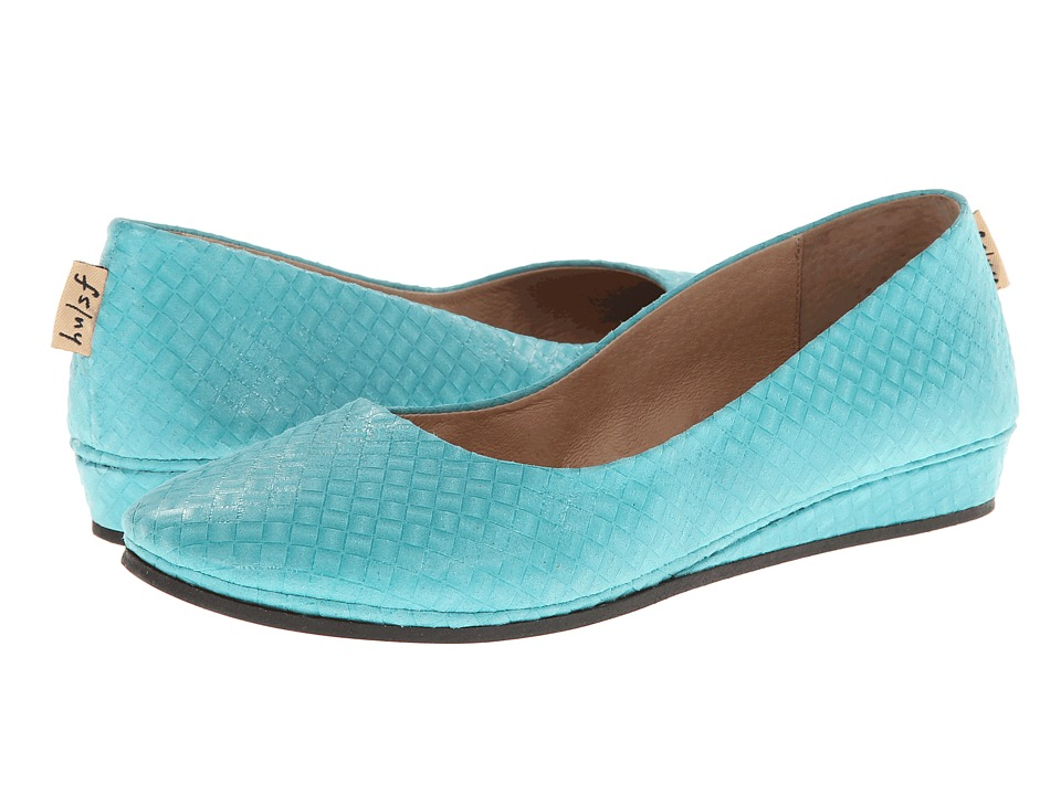 French Sole - Zeppa (Teal Green Blocks) Women's Slip on Shoes