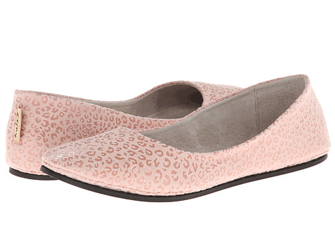French Sole - Sloop (Pale Pink Leo) Women's Flat Shoes