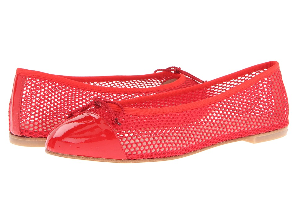 French Sole - Infamous2 (Red Patent/Red Net) Women's Flat Shoes