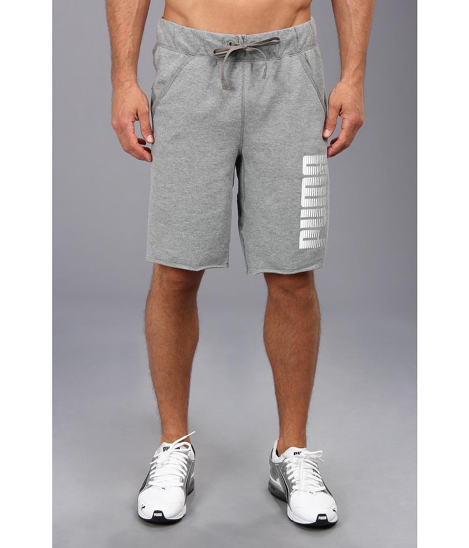 PUMA - Graphic Sweat Short (Medium Gray Heather) Men's Shorts