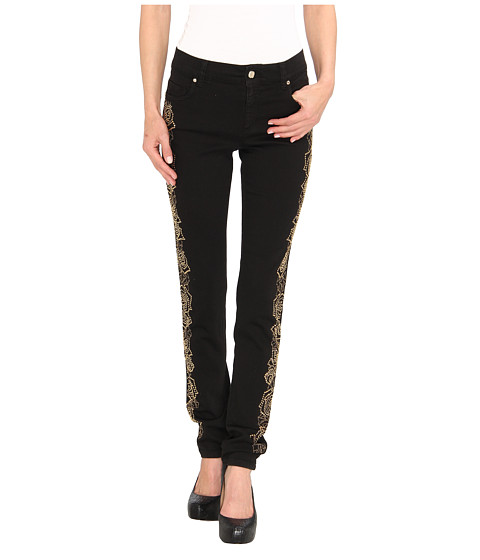 Versace Jeans - Floral Embellished Skinny Fit Denim (Nero) Women