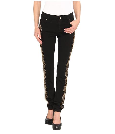 Versace Jeans - Floral Embellished Skinny Fit Denim (Nero) Women's Jeans