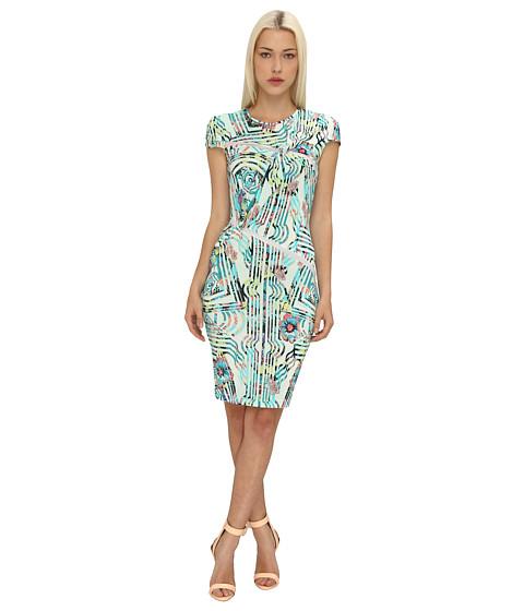 Versace Jeans Mesh Detail Sheath Dress (Azzurro Lago) Women's Dress