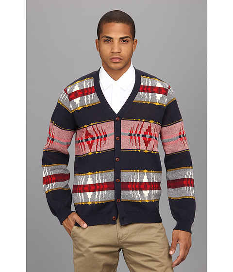 The Portland Collection by Pendleton - Big Lake Cardigan (Navy Multi) Men's Sweater