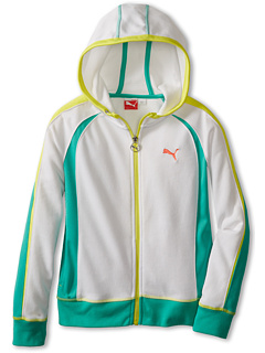 SALE! $14.99 - Save $31 on Puma Kids Color Blocked Sleeve Hoodie (Big Kids) (White) Apparel - 67.41% OFF $46.00