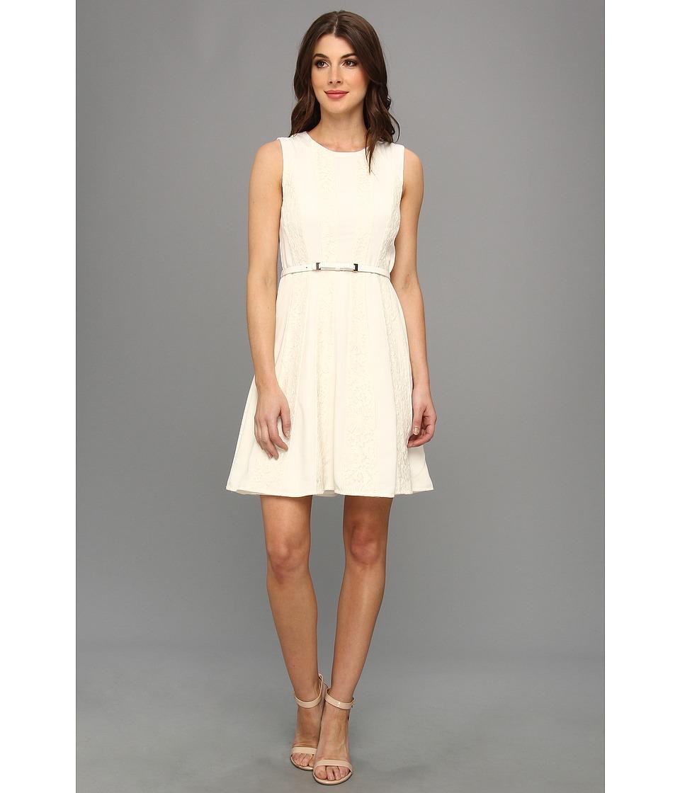 Jessica Simpson Raglan Fit Flare Dress w/ Contrast Panels (Pristine) Women