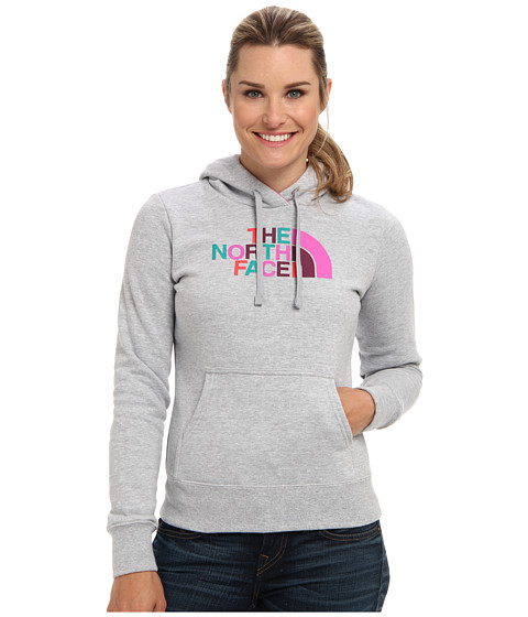 The North Face - Half Dome Hoodie (Heather Grey/Violet Pink Multi) Women