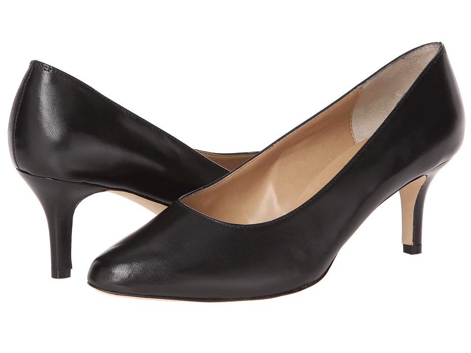 Vaneli - Laureen (Black Leather) High Heels