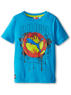 SALE! $14.99 - Save $7 on Puma Kids Cat Drip Tee (Little Kid) (Blue Danube) Apparel - 31.86% OFF $22.00