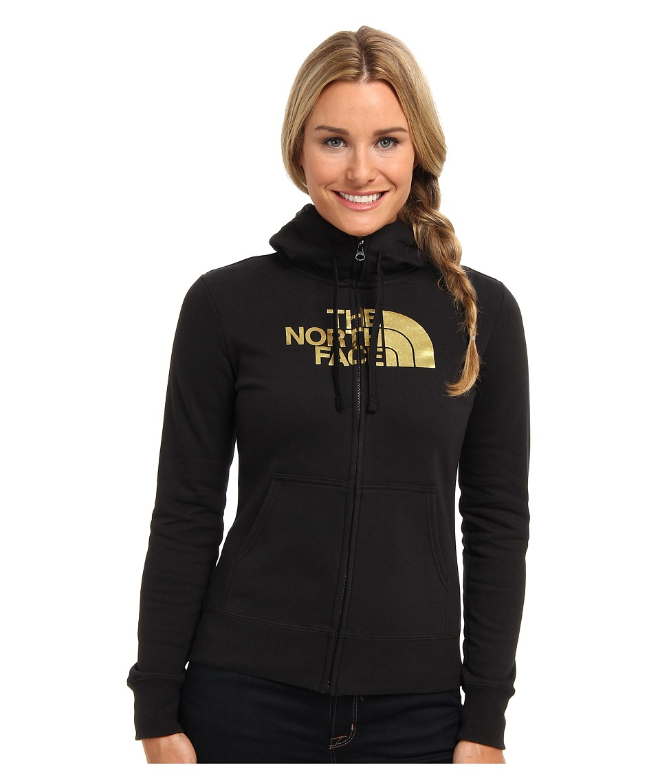 The North Face - Half Dome Full Zip Hoodie (TNF Black/Gold Foil) Women's Fleece